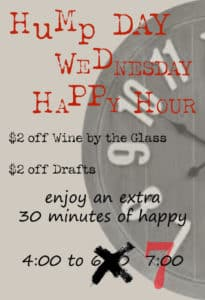 CH Fields Hump Day Happy Hour